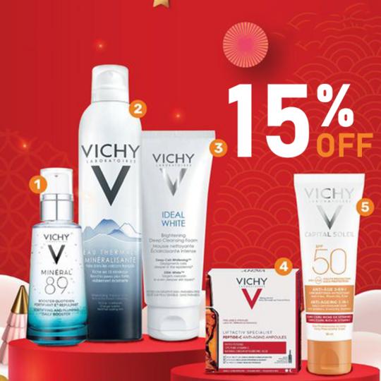 Guardian khuyến mãi 15% các sản phẩm Vichy