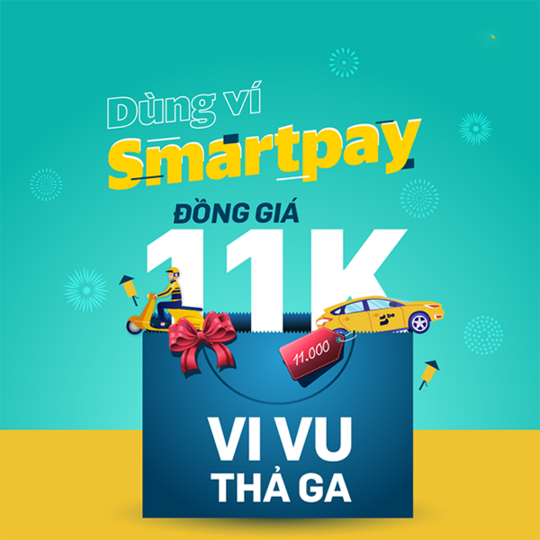 SmartPay đồng giá 11k khi dùng app Be
