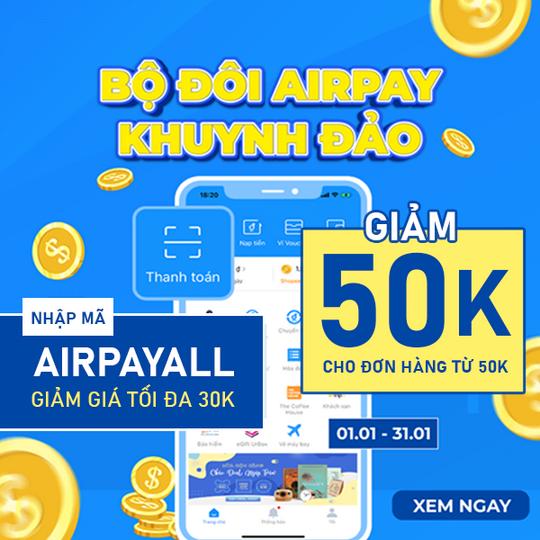 FAHASA khuyến mãi đến 50k  khi TT qua Airpay