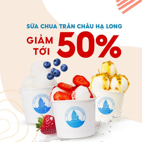 Delivery Now giảm đến 50% Sữa chua Trân châu Hạ Long