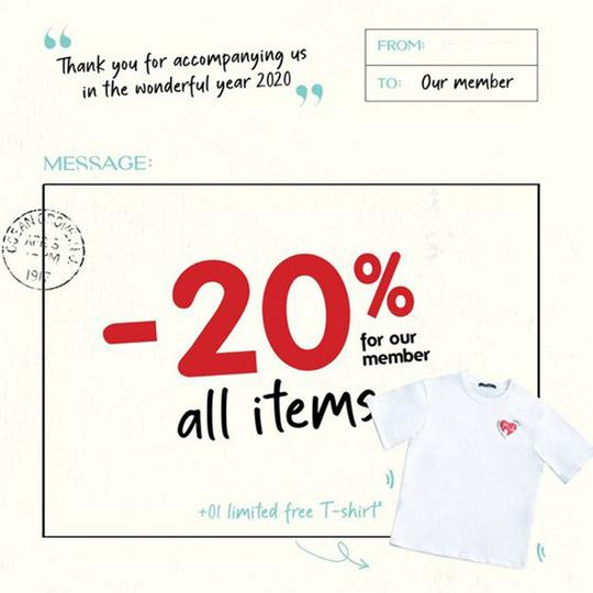 GAGO khuyến mãi 20% cho khách hàng thành viên