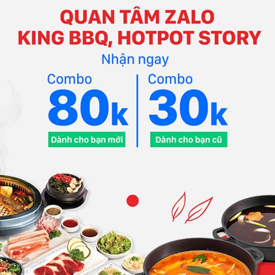 ZaloPay ưu đãi đến 80k tại KingBBQ và HotpotStory