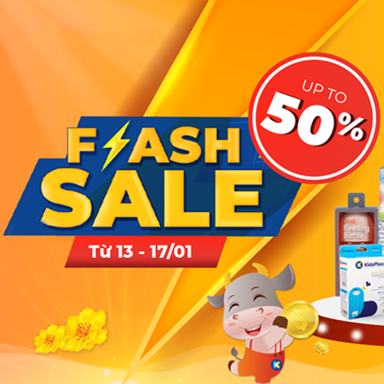 Kids Plaza Flash sale tới 50% bỉm sữa