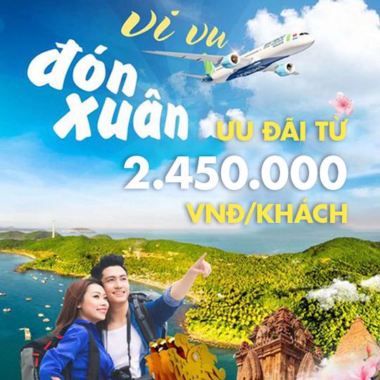Bamboo Airways khuyến mãi Vé bay + khách sạn từ 2.450k