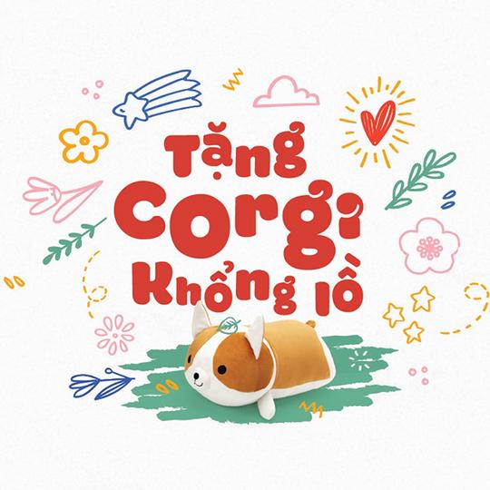 Vascara tặng gấu bông Corgi cho HĐ từ 1,2 triệu