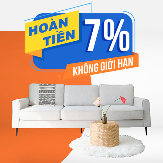 Be Yours hoàn tiền 7% khi mua sp Be Yours