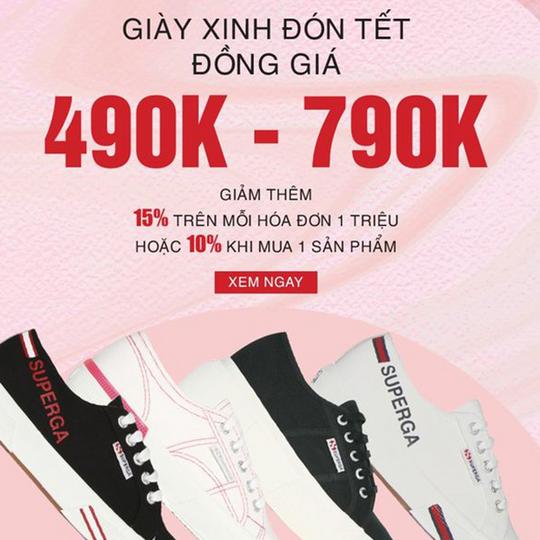Hoàng Phúc đồng giá 490k - 790k giày Superga
