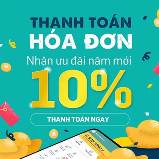 SmartPay hoàn tiền 10% khi thanh toán hóa đơn