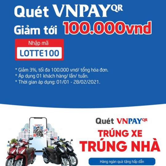 LOTTE Mart  giảm đến 100k qua Ví VNPay