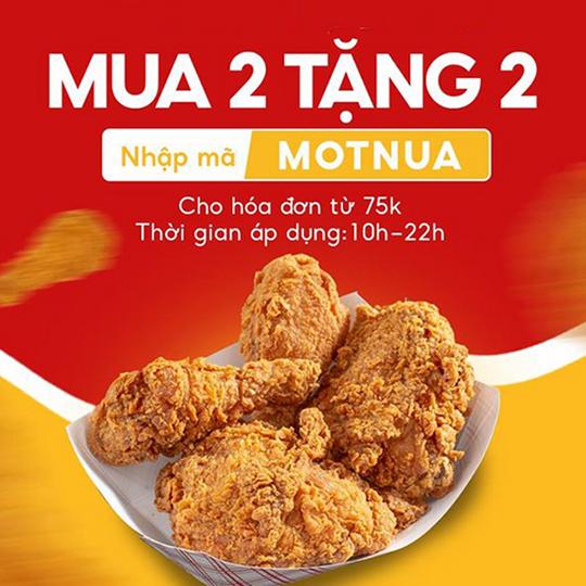 McDonald's khuyến mãi mua 2 tặng 2 qua NowFood