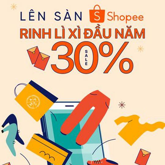 May Boutique giảm 30% toàn bộ sản phẩm trên Shopee