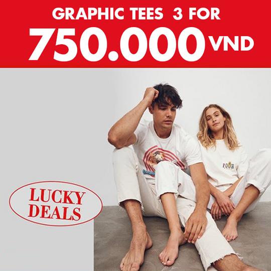 Cotton On ưu đãi 3 áo thun giá chỉ 745k