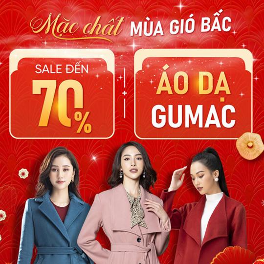 GUMAC khuyến mãi đến 70% sản phẩm áo dạ