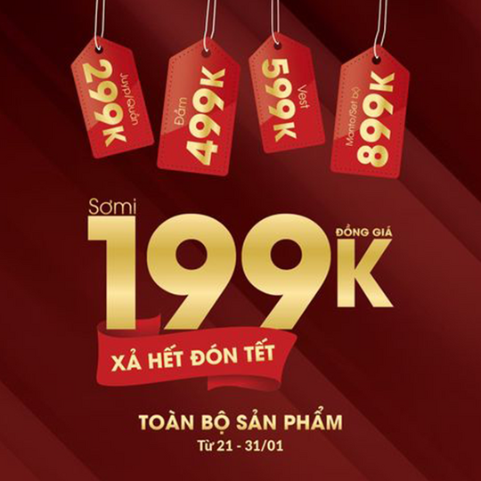Thời Trang Seven.AM khuyến mãi đồng giá từ 199k nhiều sản phẩm