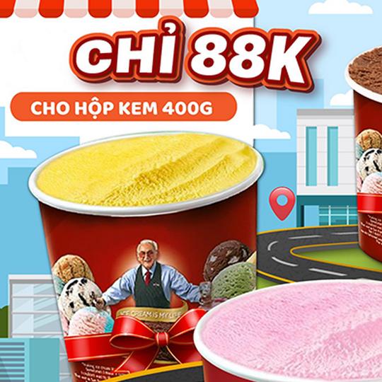 Swensen's VN ưu đãi hộp kem Quart 400g 88k qua Now