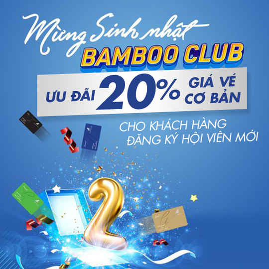 Bamboo Airways khuyến mãi đến 20% giá vé bay