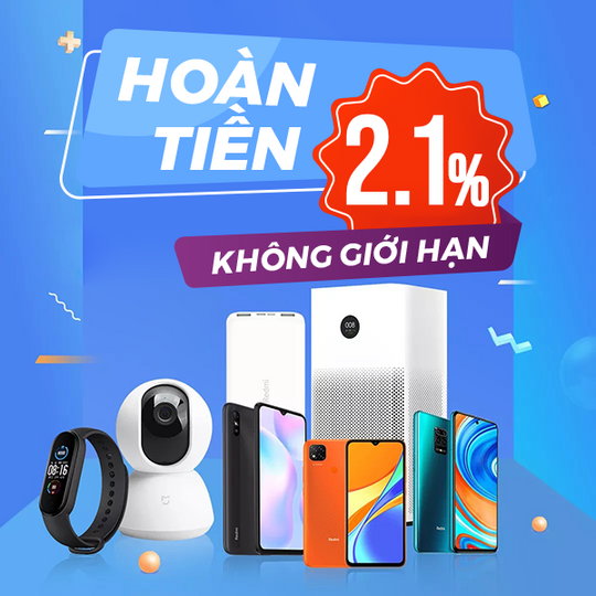 XiaoMi hoàn tiền đến 2.1% khi mua Xiaomi