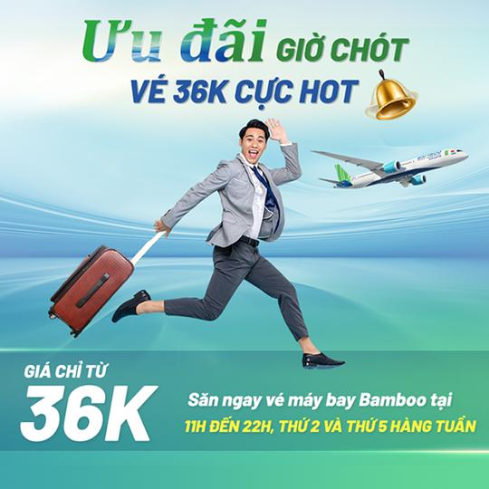 Bamboo Airways khuyến mãi vé bay từ 36k qua VNtrip