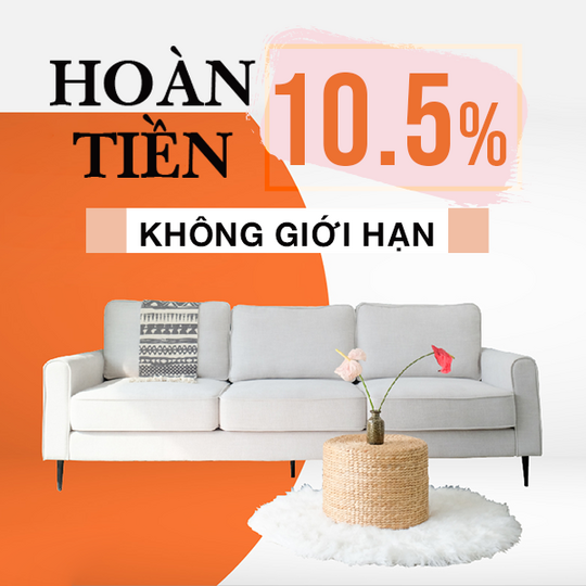 Be Yours hoàn tiền 10.5% khi mua sp Be Yours