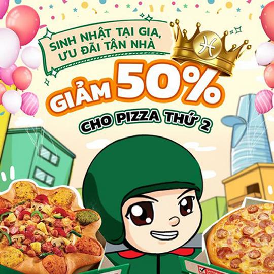 The Pizza Company khuyến mãi 50% cho pizza thứ 2
