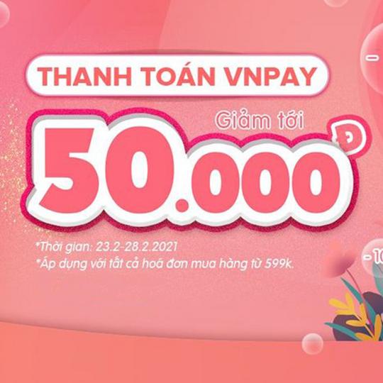 Tuticare giảm 10% khi thanh toán qua VNPAY