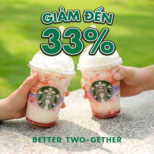 Starbucks Vietnam Ưu đãi tới 33% trong ngày 03/03