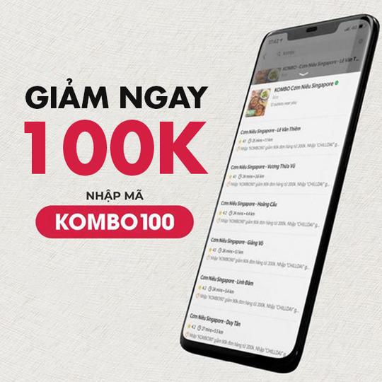 KOMBO giảm 100k khi đặt qua GrabFood