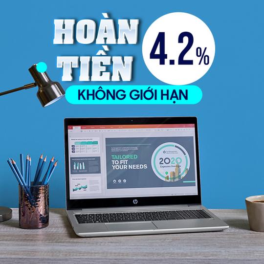 HP hoàn 4.2% khi mua sp HP tại Shopee