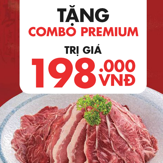 San Fu Lou tặng 01 phần combo thịt giá 198k
