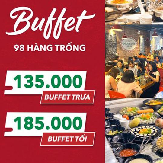 Pepperonis ưu đãi buffet chỉ từ 125K tại Hàng Trống