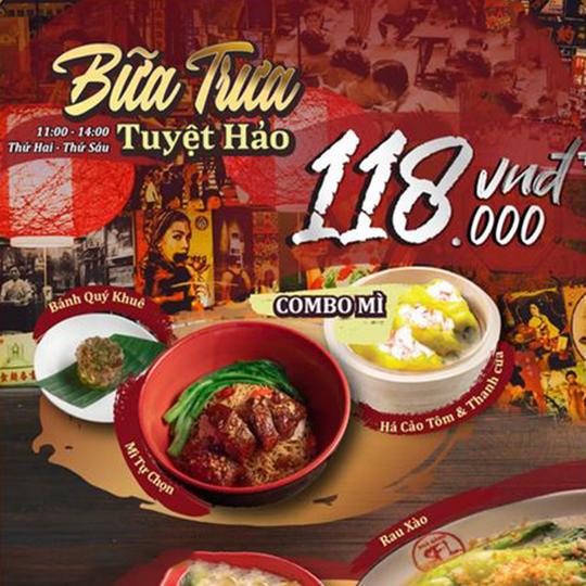San Fu Lou ưu đãi 118k combo bữa trưa