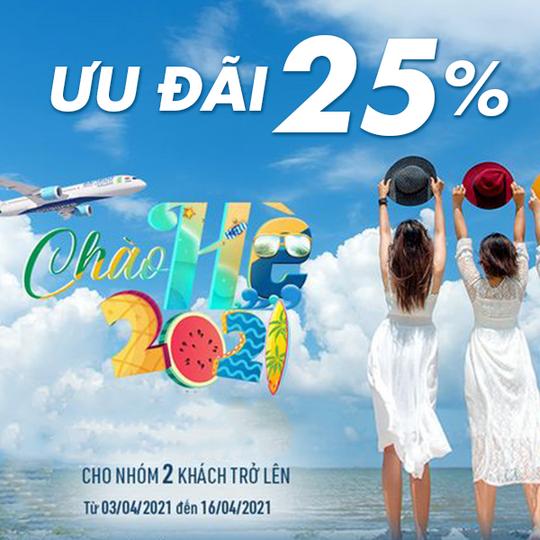 Ivivu giảm đến 25% vé bay cho nhóm 2 người