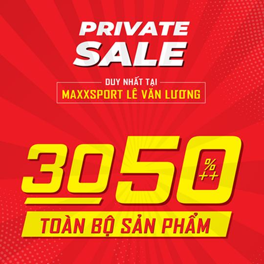 MaxxSport khuyến mãi 30 - 50% tại CN Lê Văn Lương