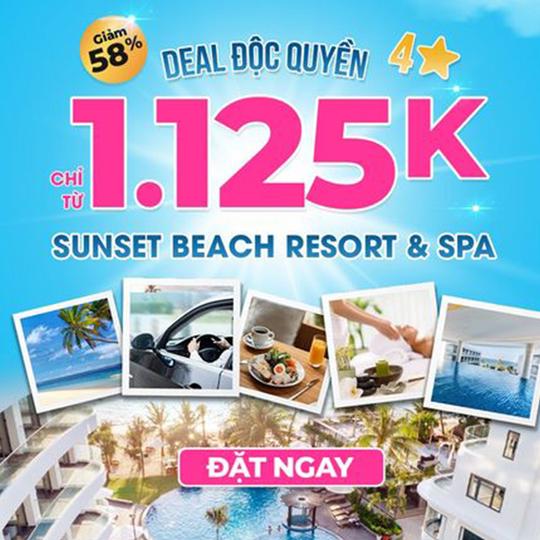 Mytour giảm 58% tại Sunset Beach Resort PQ