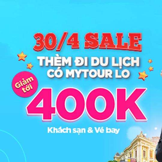 Mytour giảm tới 400k vé bay & khách sạn