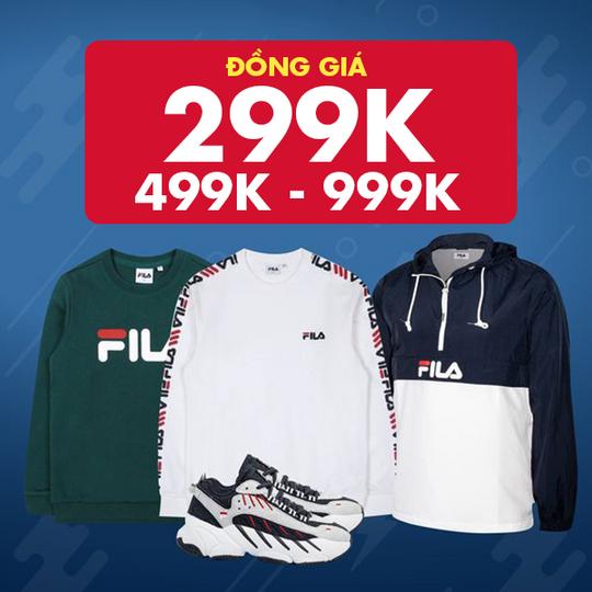 Supersports Vietnam đồng giá từ 299K SP thương hiệu Fila