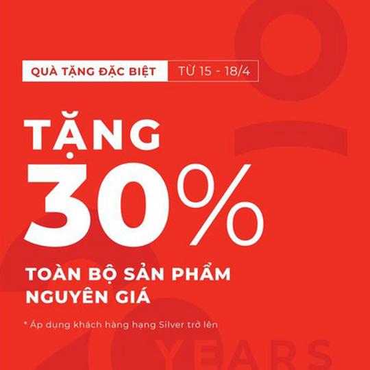 Canifa ưu đãi 30% sản phẩm nguyên giá