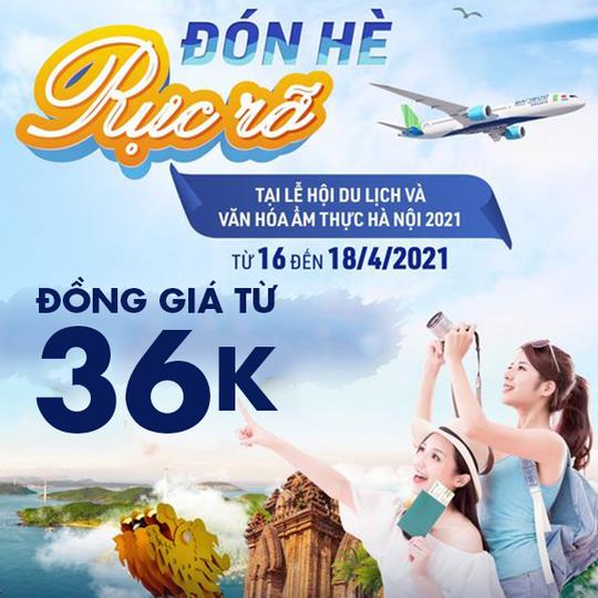 Bamboo Airways  Nhận ưu đãi đến 50% tại PĐB Hồ Gươm