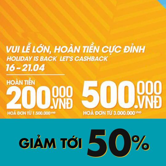 Supersports Vietnam khuyến mãi đến 50% nhiều sản phẩm