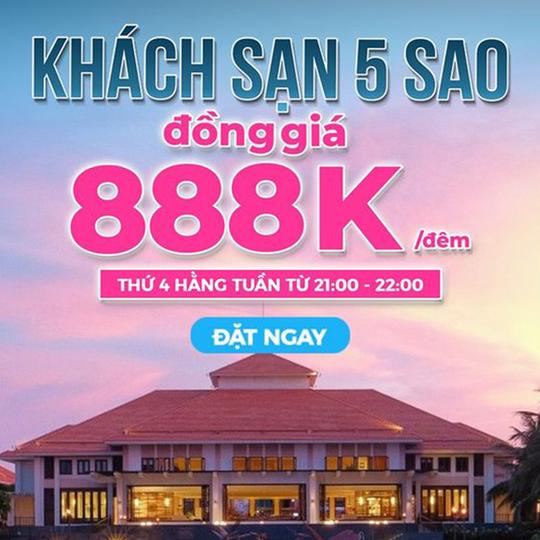 Mytour ưu đãi khách sạn 5 sao giá 888k/đêm