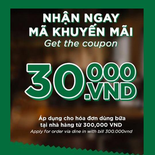 Pepperonis nhận ưu đãi 30K cho hóa đơn từ 300K