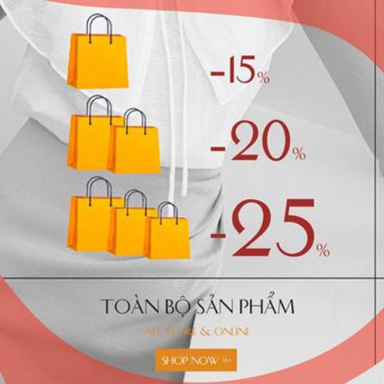 Vella Fashion khuyến mãi đến 25% toàn bộ sản phẩm