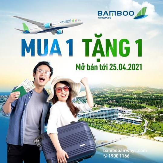 Bamboo Airways ưu đãi mua 1 tặng 1