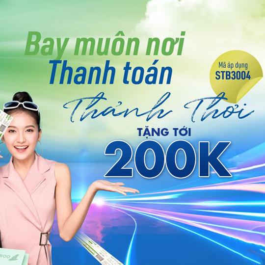 Bamboo Airways giảm tới 200k cho thẻ Sacombank