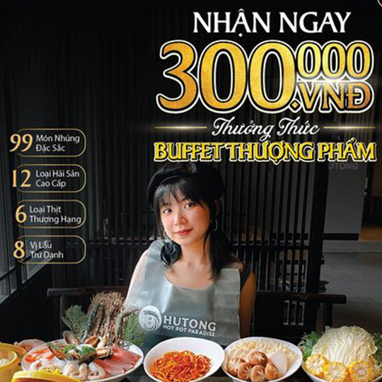 HUTONG giảm 300k Buffet Thượng Phẩm
