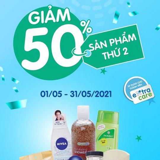 Pharmacity khuyến mãi 50% sản phẩm thứ 2