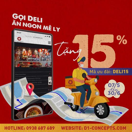 San Fu Lou ưu đãi 15% khi đặt giao hàng tận nơi