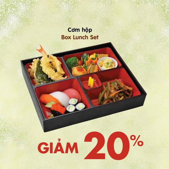 Akatonbo  khuyến mãi 20% cho 6 loại menu cơm hộp