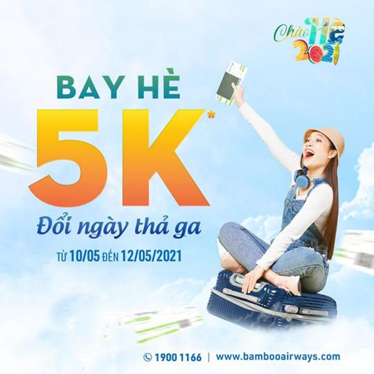 Bamboo Airways ưu đãi giá vé bay hè từ 5k