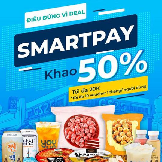 GS25 giảm 50% khi thanh toán Smart Pay